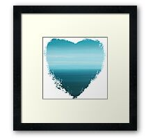 Let Go - Abstract Heart II Framed Print