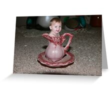 Baby in cup Greeting Card