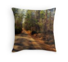 One Road Less Traveled Throw Pillow