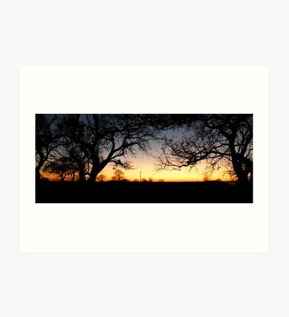 Country Sunset 4 Art Print