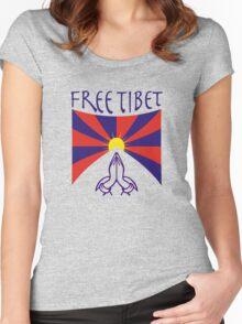 Free Tibet Shirt Women's Fitted Scoop T-Shirt