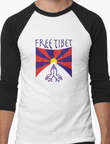 Free Tibet Shirt Men's Baseball ¾ T-Shirt