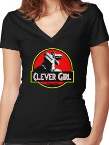 Clever Girl II Women's Fitted V-Neck T-Shirt