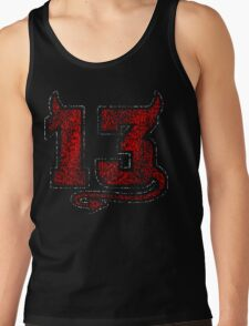 Lucky Devil 13 Distressed Tank Top