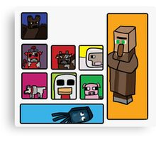 Minecraft Peaceful Mobs Canvas Print