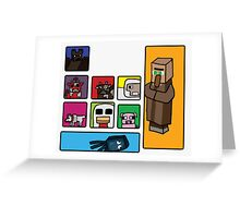 Minecraft Peaceful Mobs Greeting Card