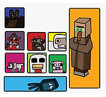 Minecraft Peaceful Mobs Photographic Print