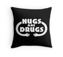 Hugs Are Drugs Funny Geek Nerd Throw Pillow