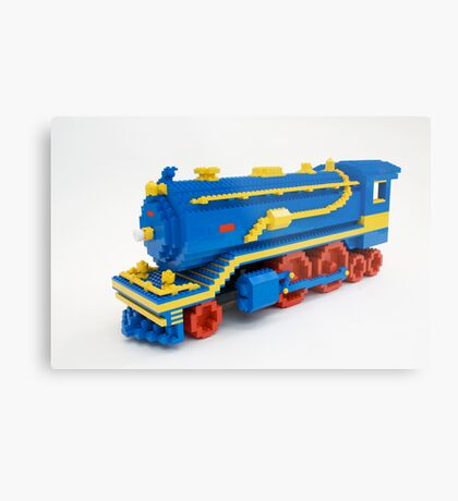 LEGO Train Engine Metal Print