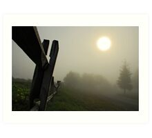 Foggy Country Road Art Print