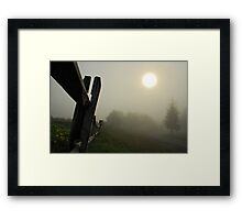 Foggy Country Road Framed Print