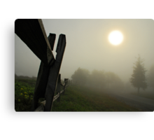 Foggy Country Road Canvas Print