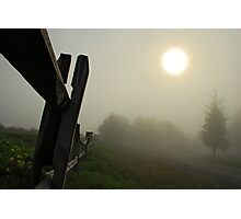 Foggy Country Road Photographic Print
