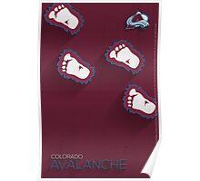 Colorado Avalanche Minimalist Print Poster
