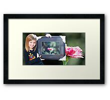 Buyers Booth Framed Print