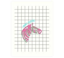 Cool zebra Art Print