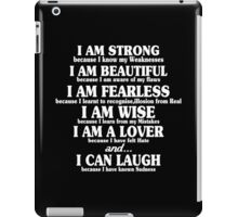 I am strong because i know my weaknesses Funny Geek Nerd iPad Case/Skin