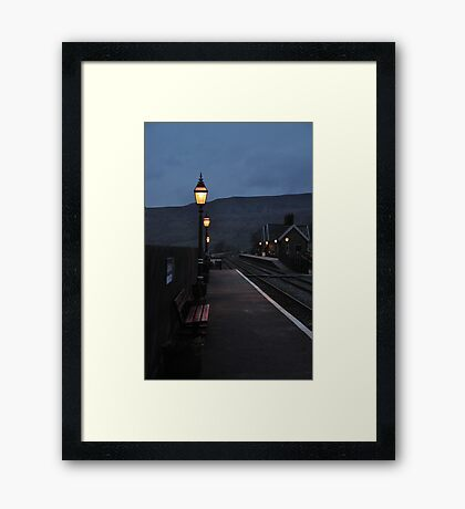 Ribblehead Train Station At Dusk Framed Print