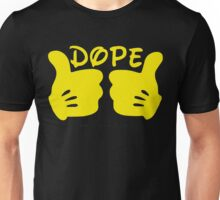 Dope Thumbs Up [Yellow] Unisex T-Shirt