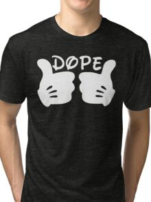 Dope Thumbs Up [White] Tri-blend T-Shirt