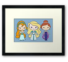 Thumbelina, Odette, and Anastasia - Lil' CutiEs Framed Print