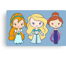 Thumbelina, Odette, and Anastasia - Lil' CutiEs Canvas Print