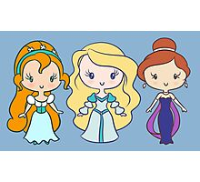 Thumbelina, Odette, and Anastasia - Lil' CutiEs Photographic Print