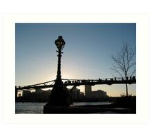 Millenium Bridge Art Print