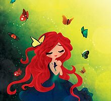 This Girl only Sleeps with Butterflies by paperheroes