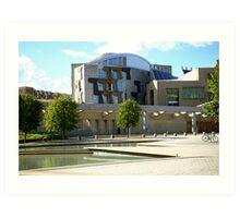 Scottish Parliament  Art Print
