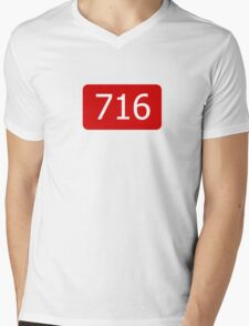 716 (Buffalo!) Mens V-Neck T-Shirt