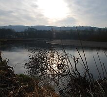 Sunset on the River Towy by kingfisher