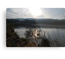 Sunset on the River Towy Metal Print