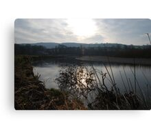 Sunset on the River Towy Canvas Print