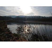 Sunset on the River Towy Photographic Print