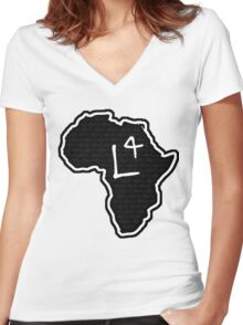 The Haplogroup in You - L4 Women's Fitted V-Neck T-Shirt