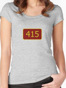 415 (San Francisco) Women's Fitted Scoop T-Shirt