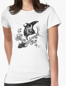 Space ocean Womens Fitted T-Shirt