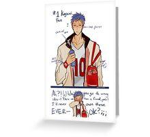 Secret fanboy Greeting Card