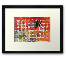 Talking Tough Framed Print