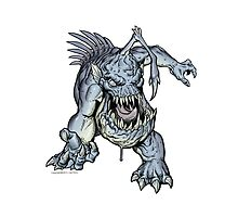 """ZOMBIE FISH Monster """"Throw Pillow"""" by CMJTOYS"""
