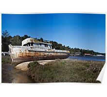 Derelict Fishing Boat, Inverness, California Poster