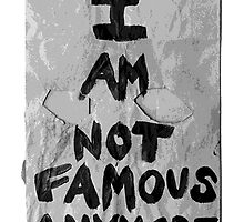 I AM NOT FAMOUS ANYMORE - SHIA LABEOUF by Gregory Wilson