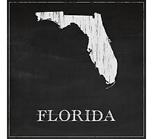 Florida Map Photographic Print