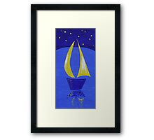 NIGHT TIME SAILING Framed Print