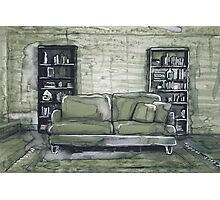 Apartment with bookshelf Photographic Print