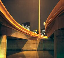 HDR docklands under overpass by mark burban