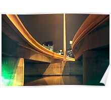 HDR docklands under overpass Poster