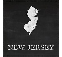 New Jersey Map Chalk Drawing Photographic Print