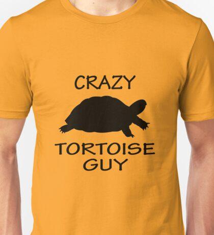 Crazy Tortoise Guy (Black) Unisex T-Shirt